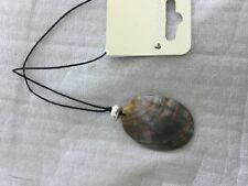 Mother of pearl pendant necklace on cord