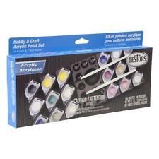 18 Hobby & Craft Acrylic Paint Set Testors Paint 9186