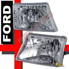 98 99 00 Ford Ranger Chrome Headlights Lamps 1 Pair