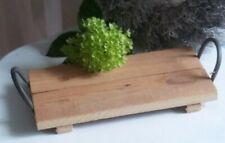 Deko Tablett, Dekotablett Holz rustikal,Vintage Landhaus Garten, 30 x 15 cm,#3