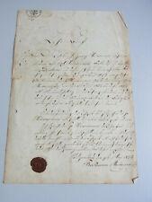 MAURER-Lehrbrief HEILIGENSTADT 1856: Maurermeister FRECKMANN für Gg. Heinemann
