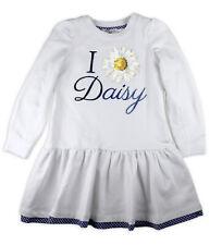 Monnalisa Jersey Shirt Langarm Kleid 193901A2 Baumwolle Weiß Gr. 122 - 7 Jahre