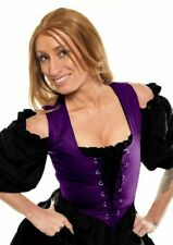 RENAISSANCE MEDIEVAL DRESS-UP VICTORIAN WITCH COSTUME PIRATE CORSET BODICE Rp-XS
