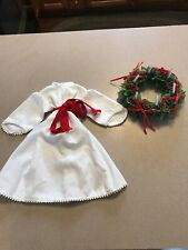 American Girl Kirsten St. Lucia Outfit Dress Belt Wreath retired Pleasant Compan