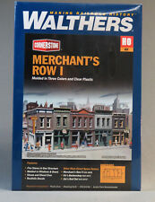 WALTHERS CORNERSTONE HO SCALE MERCHANT'S ROW I STORES BUILDING KIT W933-3028 NEW