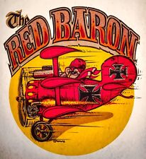 70s VTG RED BARON WWI 1 Fokker German triplane Snoopy Muttley DS T-shirt iron-on