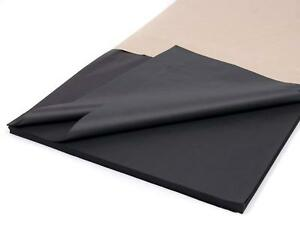 Black Tissue Paper Acid Free Ream Gift Wrap Wrapping Gift 22 GSM 1- 500 Sheet
