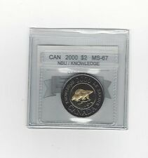 *2000 Knowledge*Coin Mart Graded Canadian, Toonie*Ms-67 Nbu*