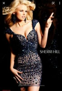 Sherri Hill Evening prom cocktail Dress UK6 XS new £550 embellished crystals BN