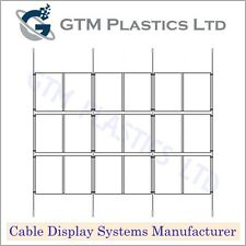 Estate Agent Cable Window Display - 6x3 A4 Portrait - Hanging Poster Holders