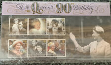 Queens 90th Birthday Stamp Collection Limited Edition. English stamps