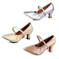 Women ladies ballroom latin dance shoes heeled girls modern tango salsa shoes