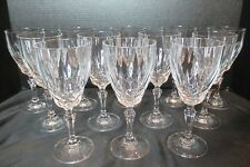 Lead Crystal Waffle Design Set of 12 Water Goblets