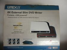 Liteon 8X External Slim DVD CD Writer Hi Speed USB Powered