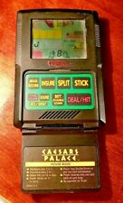 TIGER CAESARS PALACE BLACK JACK ELECTRONIC HANDHELD GAME 1993 WORKS GREAT!