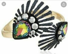 Cuff Bracelet z1. A1c $52 Betsey Johnson Peacock Hinged