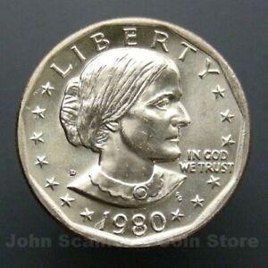 1980 D SBA DOLLAR COIN   XF  FREE SHIPPING