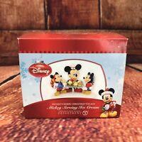 "NEW RARE RETIRED, ""Mickey Serving Ice Cream"" Dept 56 Disney Village, #4021842"