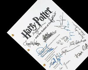 Harry Potter and the Goblet of Fire Script Film Signatures Autographs Reprint
