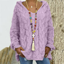 Womens V Neck Knitted Baggy Tunic Ladies Sweater Jumper Oversized Pullover Top