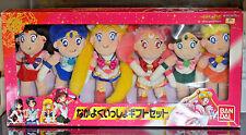 Sailor Moon SuperS plush doll stuffed toy Nakayoku Isshou Gift Set lot vintage