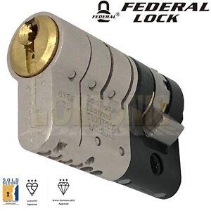 Federal 3 Star TS007 Security Half Euro Cylinder UPVC Van Door Lock Anti Snap