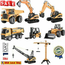 RC Car Toys 1:14 Alloy Excavator Engineering VehicleS 4WD RC Bulldozer Crame