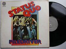 Status Quo Piledriver Rare Vertigo Swirl LP FOC Litratone