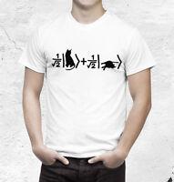 Schrödinger's cat  T shirt  quantum physics Tshirt