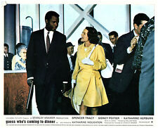 Guess who's coming to Dinner original lobby card Sidney Poitier Katharine Hought