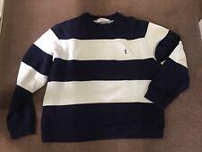 Men's YSL Vintage Sweatshirt Blue & White Stripes- XL