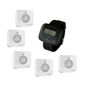 SINGCALL Caregiver Wireless System for Hospital 1 Watch 5 Small Touchable pagers