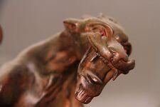 19C French Bronze Winged Griffin/Gargoyle/Dragon Chandelier