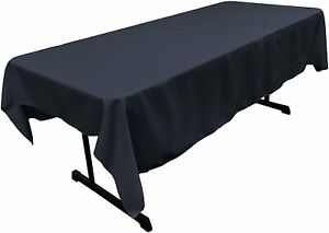 """60""""Inch Navy, Polyester Poplin Rectangular Tablecloth For Wedding Event Party"""
