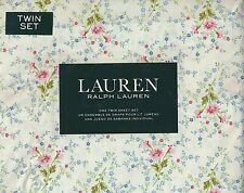 RALPH LAUREN FLORAL BOUQUETS PINK BLUE GREEN TWIN 3 PC. SHEET SET