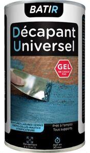 DECAPANT GEL peinture lasure colle vernis crépi vitrificateur mastic 1L BATIR
