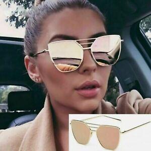 Rose Gold Oversized Aviators Sunglasses Mirrored Aviators Reflective Frame