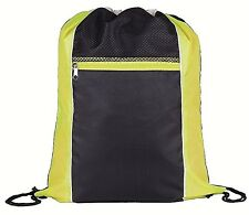 YELLOW & BLACK DRAWSTRING BAG