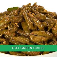 Home Made Hot Green Chilli Pickles 500 gm Hari Mirch Mrichi ka Achar