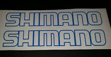Shimano Outline sticker Blue colour small 200mm x 33mm x 2