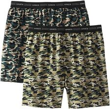 Hanes Red Label Men's 2-Pack Exposed Waistband Woven Camo Boxers