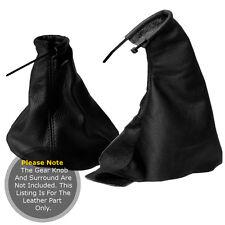 Fits vauxhall opel calibra tous les ans gear gaiter real leaher ensemble coutures noir