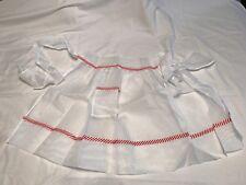 Vintage Christmas White Apron Valentines Day Sweet Candy Stripe Ribbon