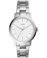 Fossil ES4183 Women's Neely White Dial Silver Stainless Steel Bracelet Watch