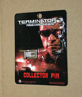 2003 Terminator 3 Rise of the Machines rare Collectible Pin T3 Logo