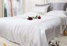 100% Seide Bettwäsche 2-tlg 80X80 Kissenbezug + 135X200 Bettbezug 16mm 01#Weiß