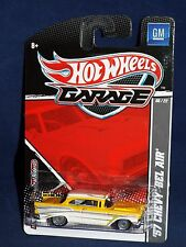 Hot Wheels 2011 Garage Series GM 6/22 '57 Chevy Bel Air Yellow & White w/ RRs