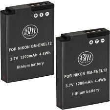 BM 2X EN-EL12 Batteries for Nikon Coolpix A1000, B600, P300, P310, P330, P340