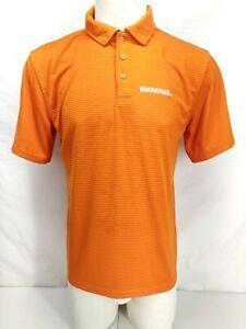 Whataburger Shirt Medium Short Sleeve Orange Uniform Employee Button Up Polo M