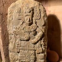 Pre-Columbian Mayan / Aztec art -  Maya King relief sculpture - wall feature